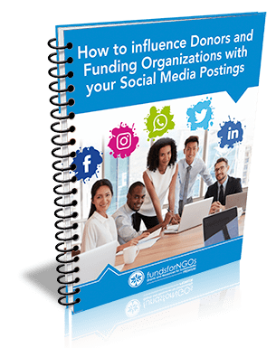 How to influence Donors and Funding Organizations with Social Media Postings